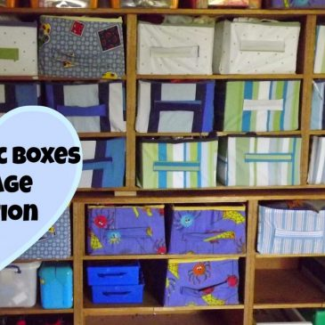 Fabric Boxes: Our Storage Solution