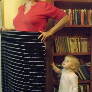 Upcycling: Excess Skirts Become Flattering