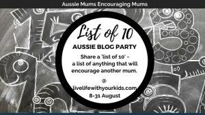 aussie mums blog party aug