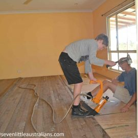 Loungeroom Receives Floorboards