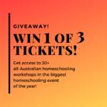 Australian Homeschool Summit 2021 – Giveaways